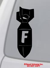 F BOMB Vinyl Decal Sticker Car Window Wall Bumper Funny JDM ILLEST DOPE FBOMB