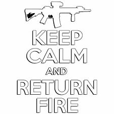 Keep Calm Return Fire Pro Gun Ar15 Ak47 2nd Amendment Car Truck Decal Sticker