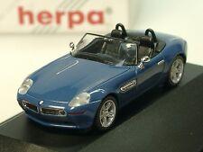 Herpa BMW Z8, bleu - 101288 - 1/87 PC