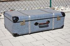 VINTAGE Reisekoffer Hartschale Koffer 81x46x26cm Couch Tisch LEIPZIG 50er