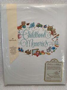 Vintage Hallmark Baby's Childhood Memory Album Scrapbook Adoption Shower Gift