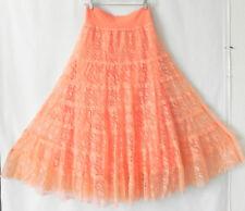 Reba Swing Skirt Lace Orange Large Waist Band Size XL