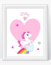 Nombre Personalizado Unicornio Niñas impresión Vivero Dormitorio Regalo Recuerdo