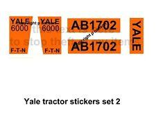 DINKY TOYS   EATON YALE  TRACTOR sticker set orange