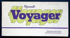 Owner's manual * manual de instrucciones 1977 Plymouth Voyager (Estados Unidos)