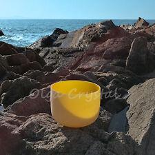 """12"""" E Solar Yellow Plexus Quartz Crystal Singing Bowl Meditation Chakra Healing"""