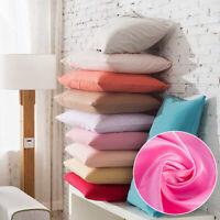 Silk Pillowcase 100% Pure Silk Soft Pillowcase Solid Colors Home Accessories