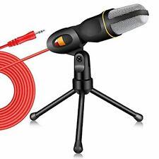 Professional Condenser Sound Podcast Studio Microphone for Skype MSN PC Laptop