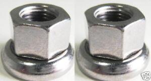 Formula Axle Nuts FRONT 9mx1 SILVER no-slip Fits track fixed gear bike hubs 2pcs