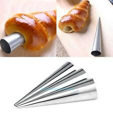 3pcs Stainless Steel Croissant Cake Baking Mold DIY Spiral Tube Horn Bread Maker