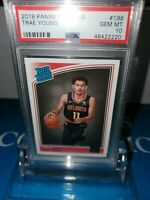 PSA 10 💎MINT~2018-19 Panini Donruss Rated ROOKIE Trae Young Rookie#198 RC🔥💎🏀
