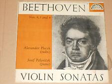 BEETHOVEN -Violin Sonatas- Alexander Plocek, Josef Palenicek LP