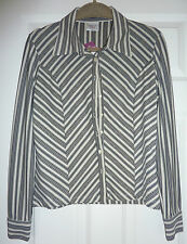 NEXT black and white striped stripy blouse 12 petite BNWT (would fit regular 12)