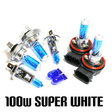 Ford Fiesta MK7 1.6 100w Super White Xenon HID Main/Dip/Fog/Side Light Bulbs Set