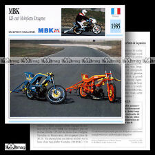 #033.03 MBK 125 Mobylette Dragster 1985 (Cadre 51) Fiche Moto Motorcycle Card