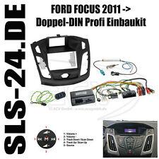 Ford Focus a partir de 2011 doble DIN radio diafragma diafragma + adaptador volante Clarion radio