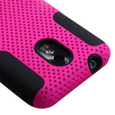 Pink Mesh Hybrid Hard & Soft Case Samsung Galaxy S2 Epic 4G Touch D710 (Sprint)