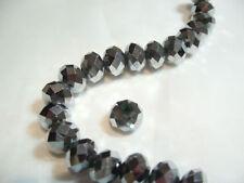 12 X 8 Mm De Corte de cristal de cristal Rondelle bolas: rond05