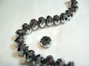 12 x 8mm Crystal Cut Glass Rondelle Beads: Rond05