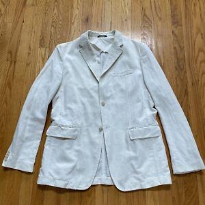 Banana Republic Cream Linen Blazer Sport Coat Mens 42R