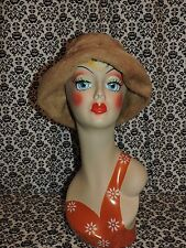 Vintage Musketeer Austrian Made Cloche Faux Fur Hat Cap Womens One Size USED
