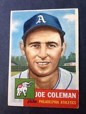 1953 TOPPS # 279 JOE COLEMAN - PHILADELPHIA ATHLETICS - EX