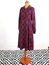 Vintage 80's / 90's Ethnic Print Dress Retro 10 - 12