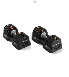 NordicTrack 55lb Adjustable Dumbbell Set Pair (2) Select A Weight