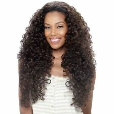 Trendy Women Dark Brown Long Shaggy Afro Curly Heat Resistant Wig Hair NO LACE