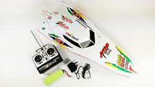 7000 RC Radiocomando Syma Bianco Stealth Racing Speed Boat ** UK VENDITORE **