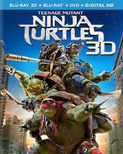 Teenage Mutant Ninja Turtles Blu-ray + 3D Blu-ray + DVD NEW + 3D slip cover READ