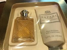 Safari by Ralph Lauren mens  set with .38 fl oz cologne and hair shampoo 1.7 fl