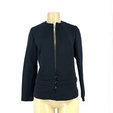 Catalina Vintage Women Classic 3 Button Blazer Jacket Black Career Sz 11/12 1-2