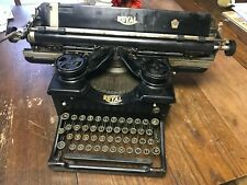 "HTF Vintage 1931 Royal Manual Typewriter Model 10 Glass Sides Wide 18"" Carriage"