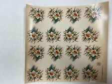 Ceramic decals narcissus flower pattern lot of 48