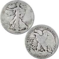 1921 S Liberty Walking Half Dollar G Good 90% Silver 50c US Coin Collectible