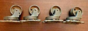 4 Antique Industrial Steampunk Payson No. 184 Cast Iron Swivel Caster Wheels