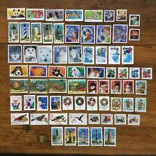 16 used setenant set singles US postage stamps