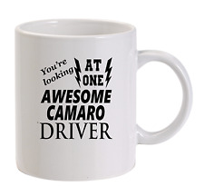 Awesome Camaro Driver Mug New Funny Birthday Gift Dad   Chevrolet Chevy car