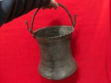 RARE HUGE ANTIQUE ISLAMIC JUG PITCHER COPPER & BRONZE ENGRAVINGS CAMELS FLORAL