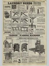 1926 Paper Ad Badger Brand Hand Water Power Motor Waching Machine Gas Motor