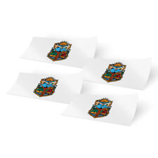 Baja California 4 Pack of 4 Inch Wide Flag Stickers for Window Laptop