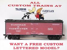 Ho Custom Lettered Tonopah & Tidewater Rr Freight Car Reefer. Lot A