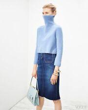 THE ROW Luxurious 'Nenette' Cashmere Wool Crop Turtleneck Sweater M // S