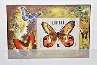 """FRANCOBOLLI LIBERIA 1974 """"FARFALLE INSETTI PIANTE FAUNA"""" USED BLOCK (CAT.Z)"""