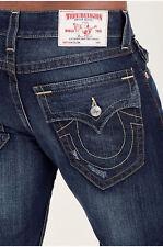 True Religion Para hombres Calce Ajustado Jeans Rectos Con Solapa Bolsillos Traseros en Laguna perdido