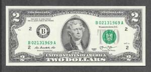 2013 - $2 UNC * Fancy Solid D.O.B. # FEB. 13, 1969 * Note
