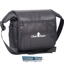 Classic Equine Horse Messenger Bag Equipment Storage Tote Black