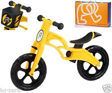 "Pop Bike Children Kids Learn Balance Bike 12"" EN71 & CE Certified Safety YELLOW"