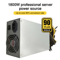 1800W ETH Mining Machine Power Supply 180-240V Input 10 x 6pin 95% Efficiency GE